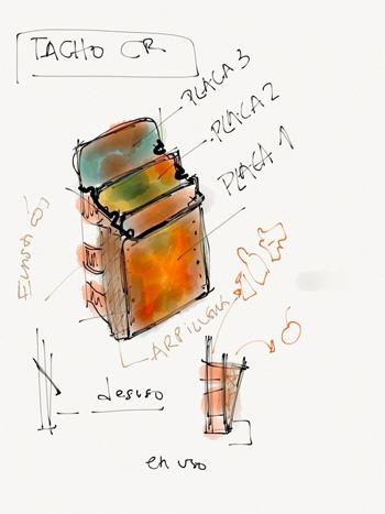 domestic recycling bin